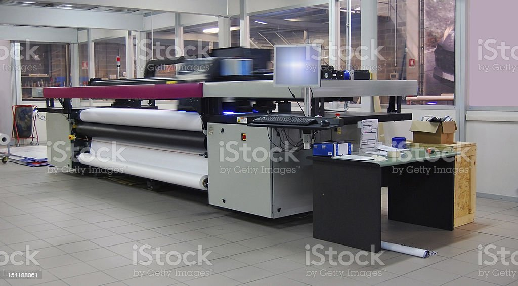 Digital printing - wide format stock photo
