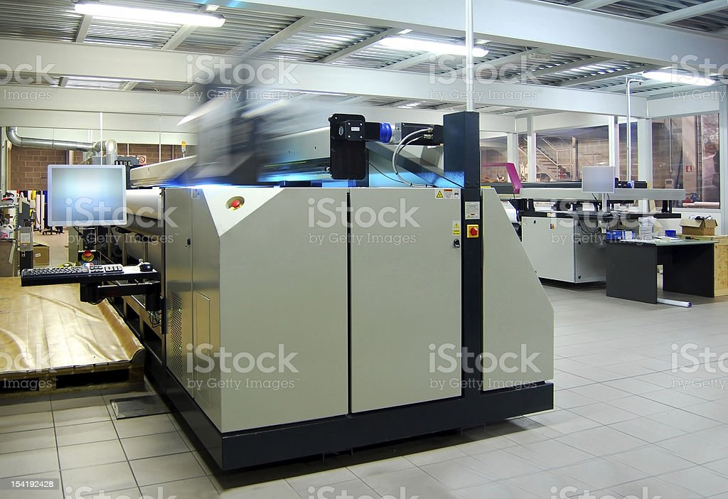Digital printing - wide format stock photo