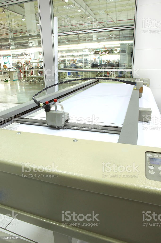 Digital printing . Wide format printer. stock photo