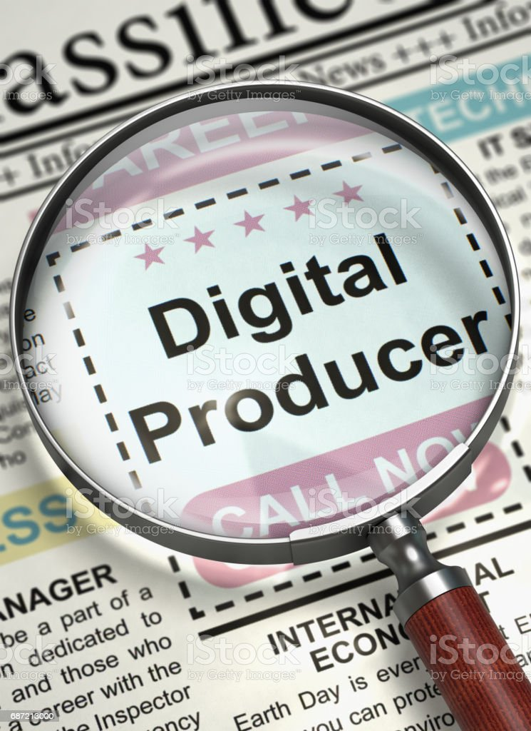 Digital Producer Hiring Now. 3D stock photo