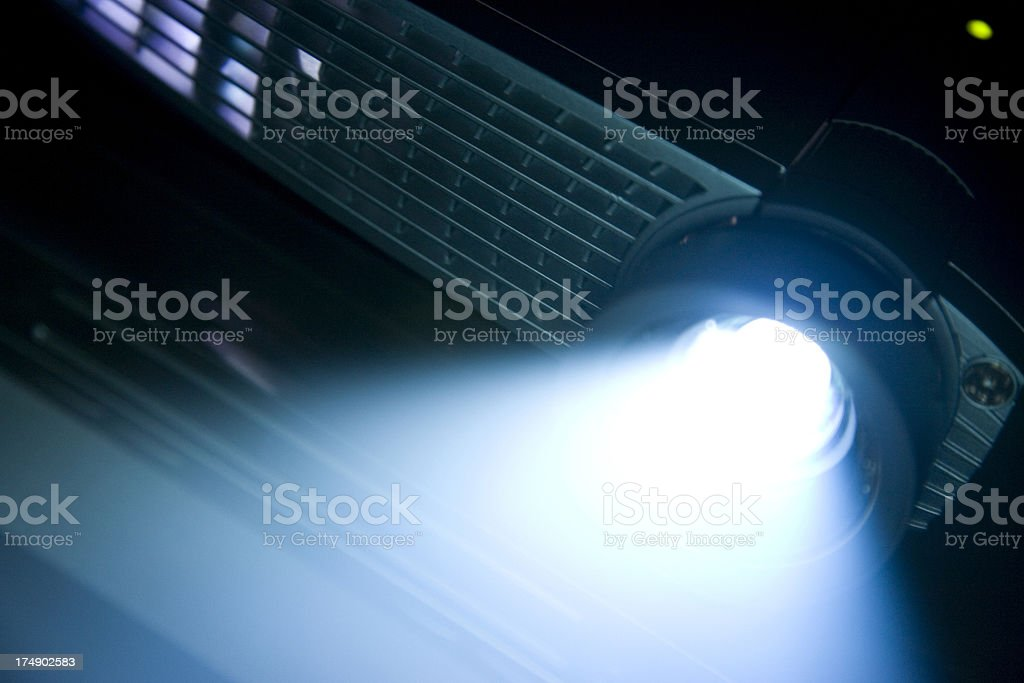 Digital Projector with bright beam stock photo