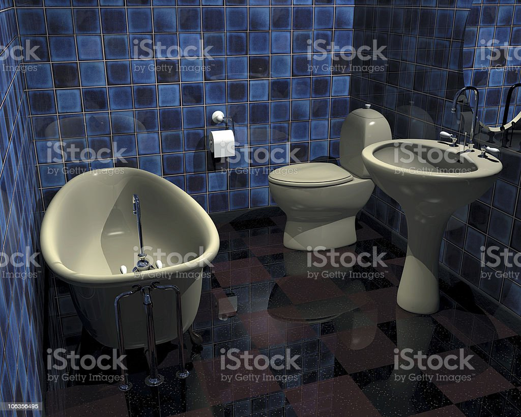 Digital Render of a vanity bathroom set royalty-free stock photo
