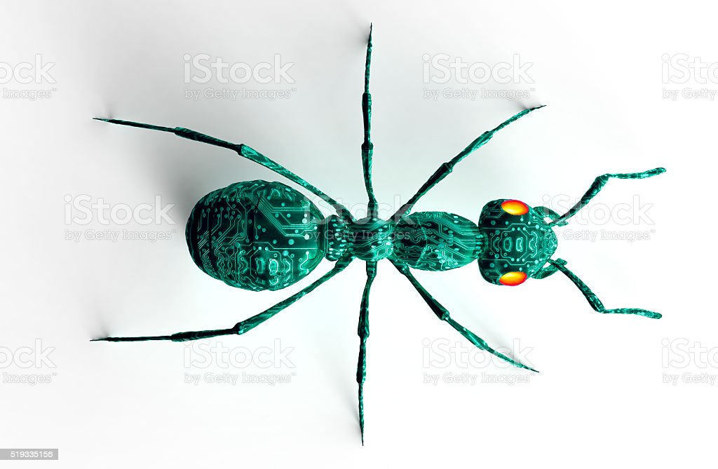 digital safety concept computer bug isolated on white stock photo