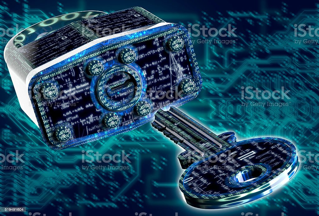 digital safety concept padlock in electronic environment stock photo