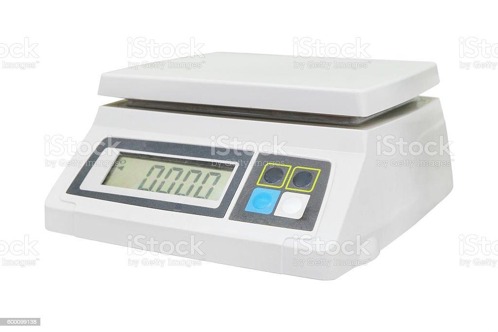 Digital scales stock photo