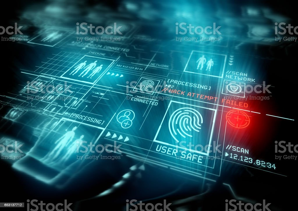 Digital Security and data protection stock photo