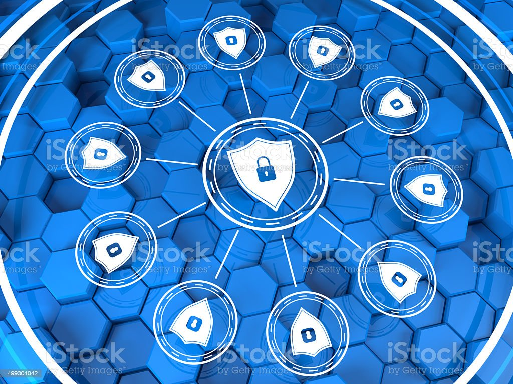 Digital security concept stock photo