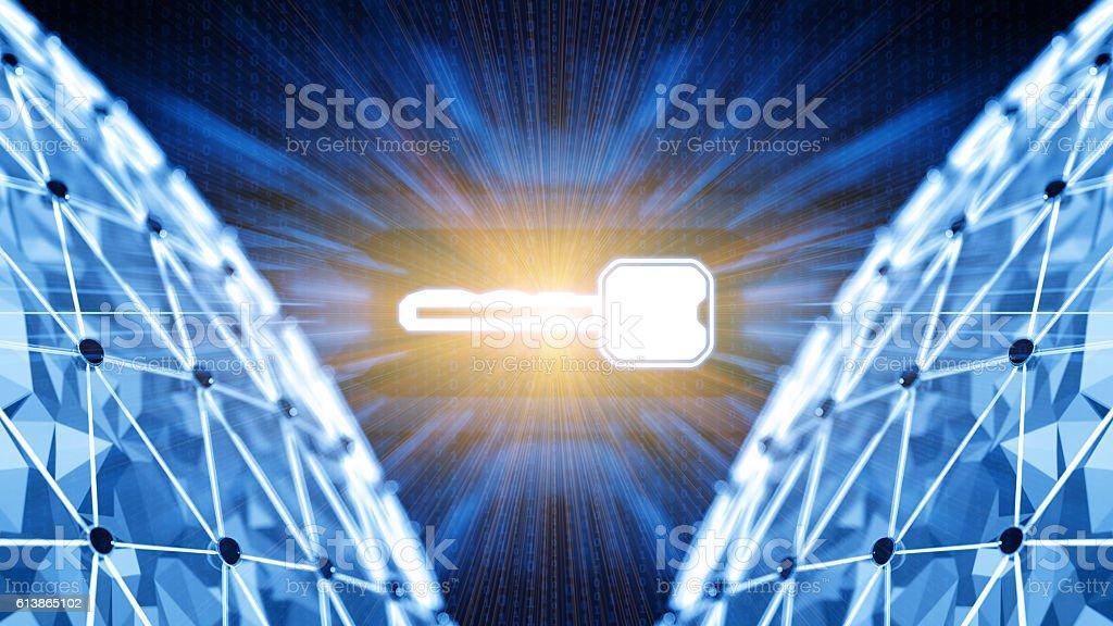 Digital security concept stock photo