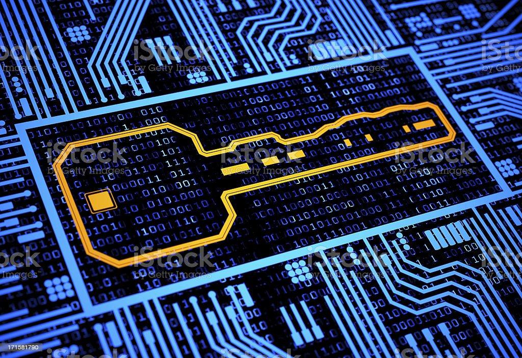 Digital security key royalty-free stock photo