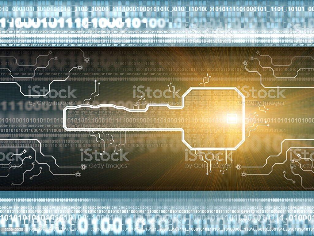 Digital security key stock photo