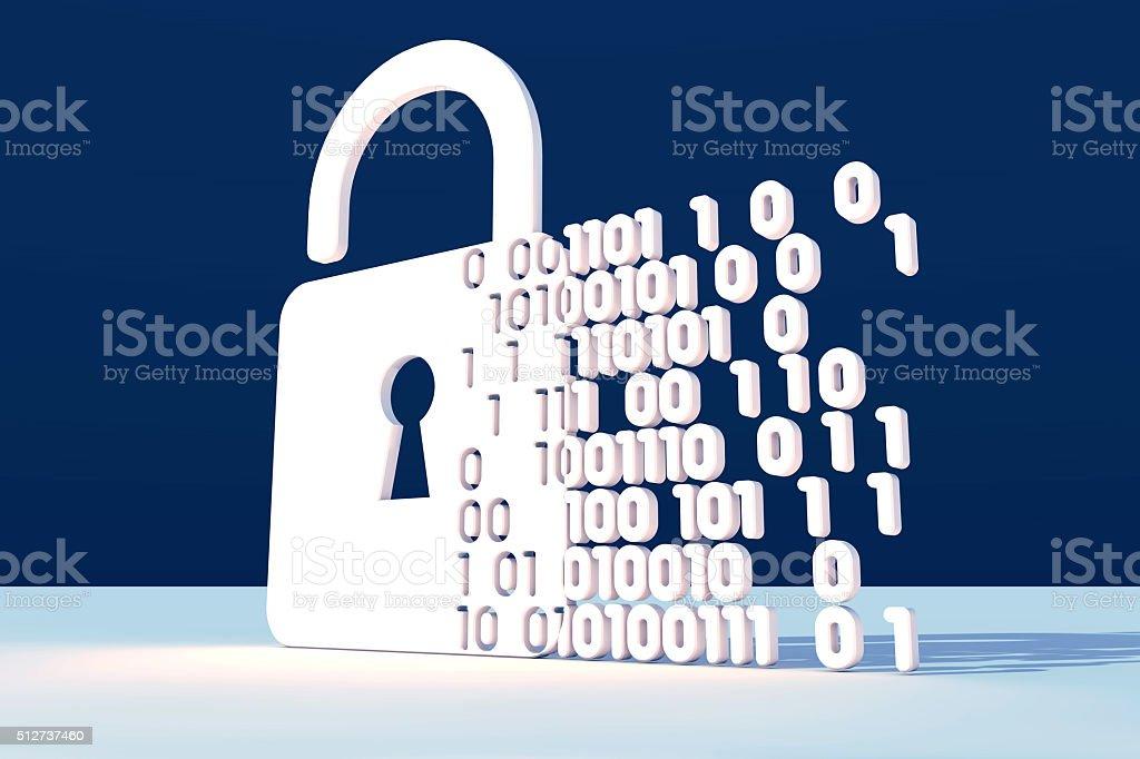 Digital security stock photo