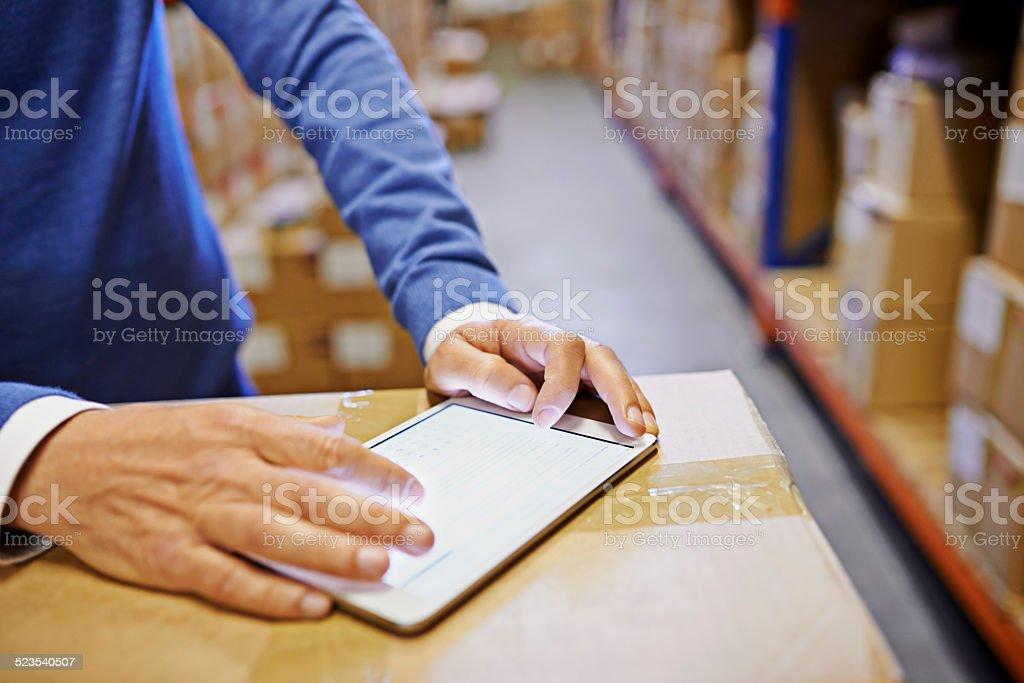 Digital shipping logistics stock photo