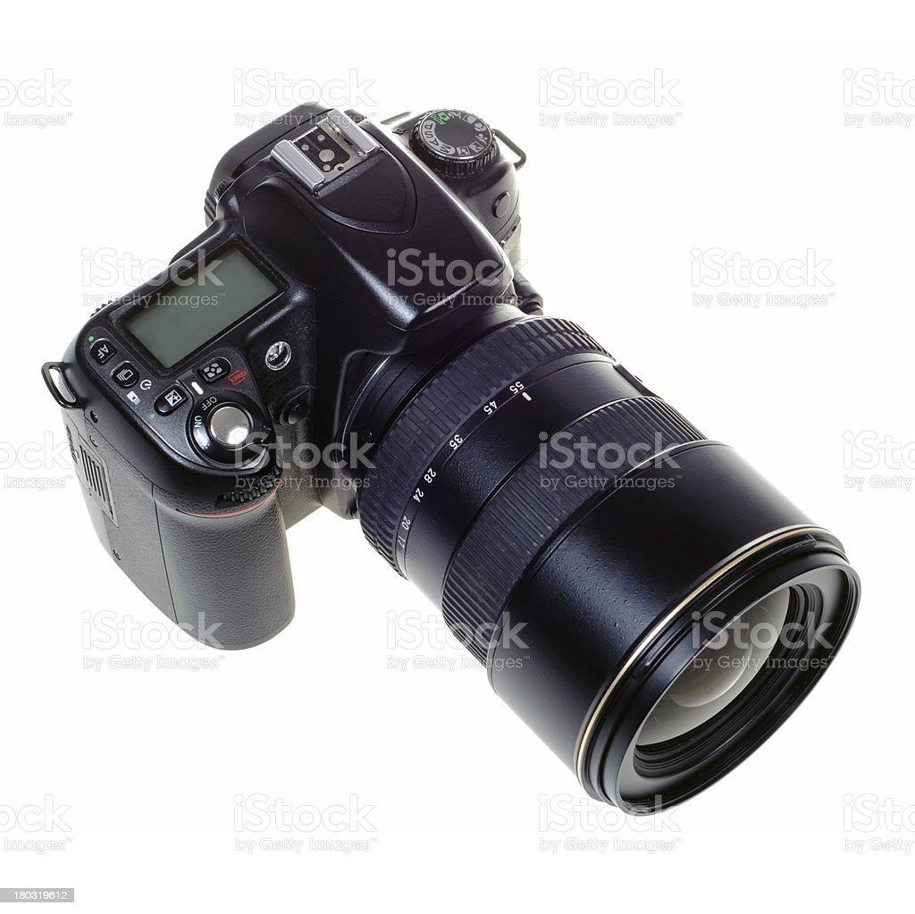 DSLR digital single lens reflex camera isolated stock photo