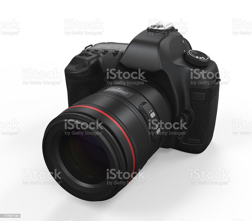 Digital SLR Camera Isolated stock photo