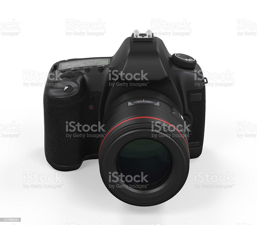 Digital SLR Camera Isolated royalty-free stock photo