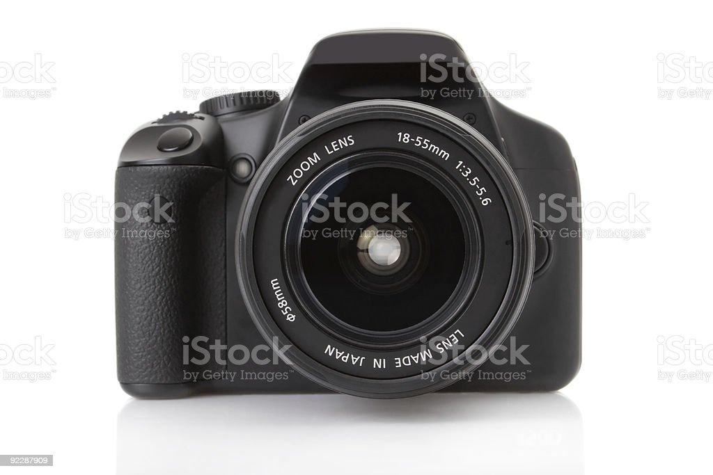 Digital slr isolated on white stock photo