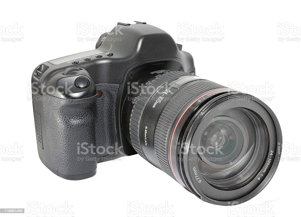 Digital SLR royalty-free stock photo