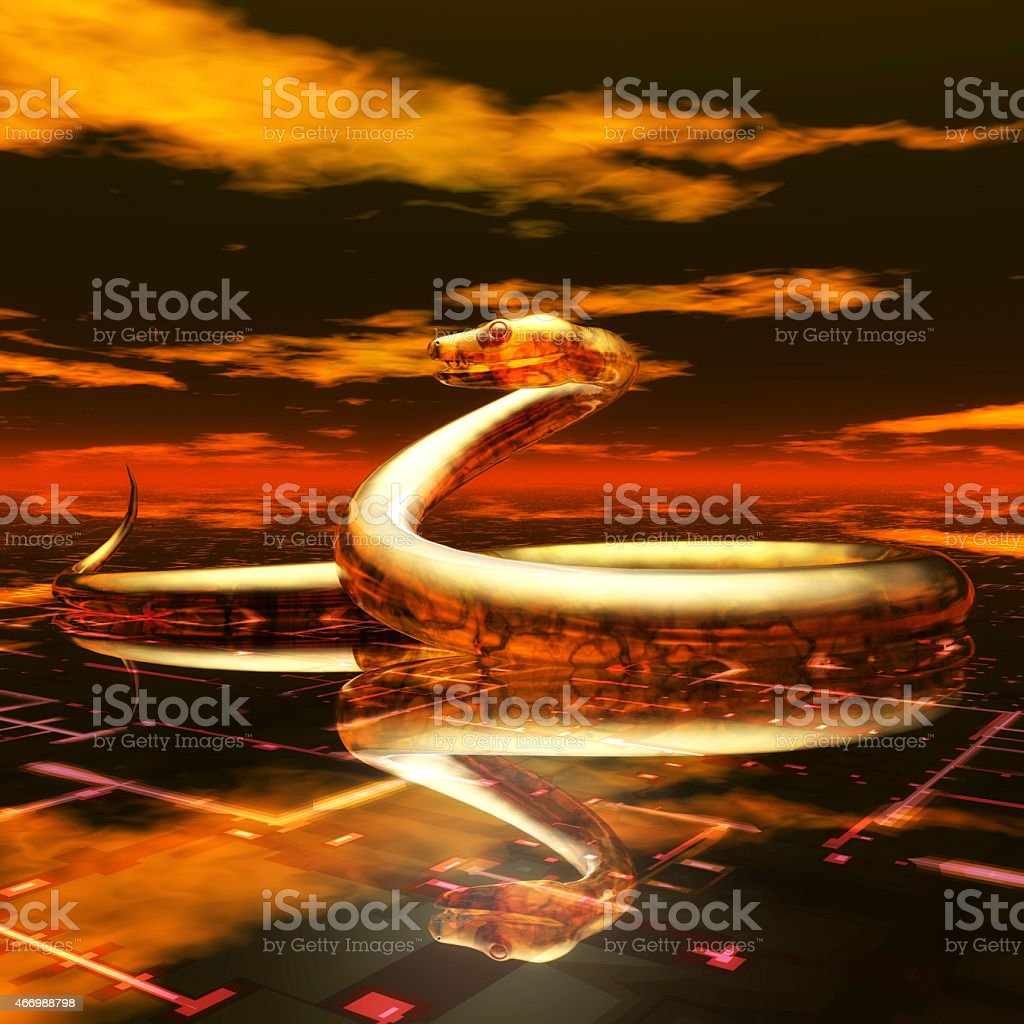 Digital Snake Visualization stock photo