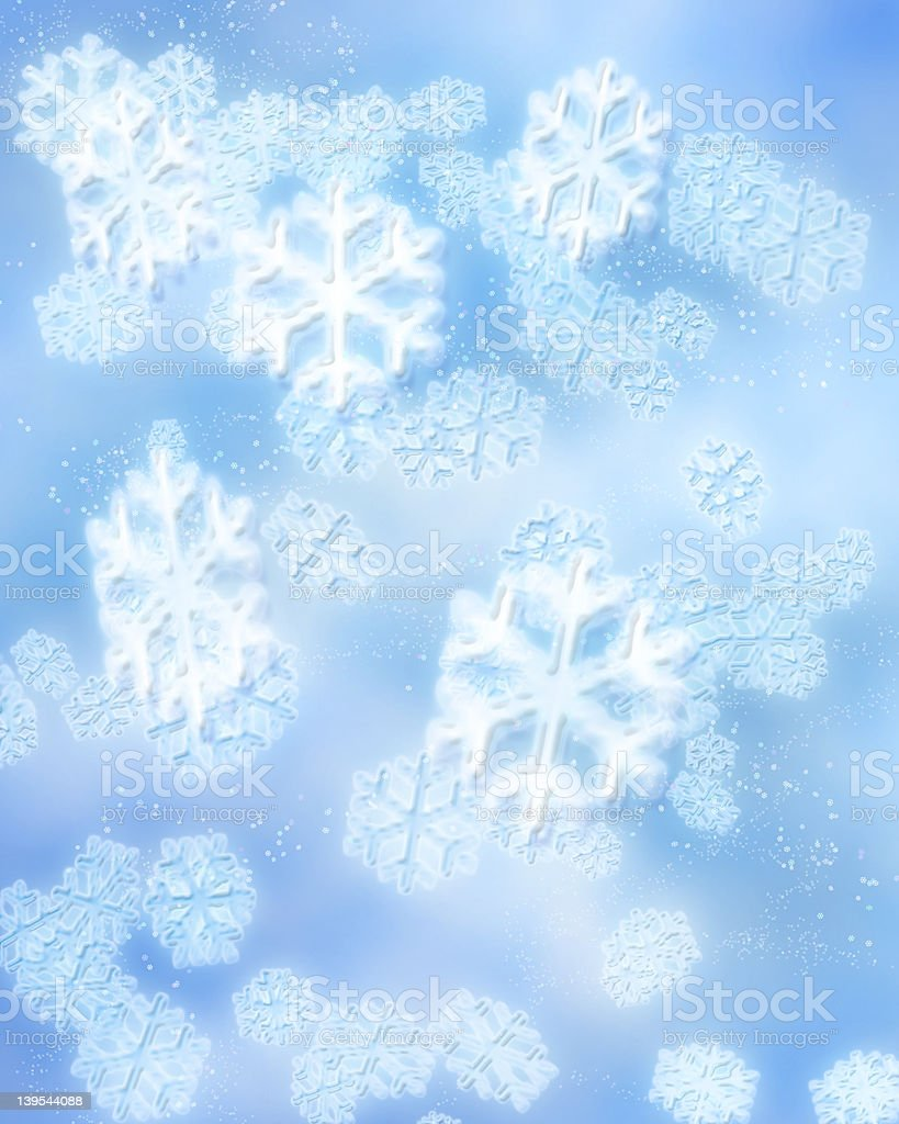 Digital Snowflakes royalty-free stock photo