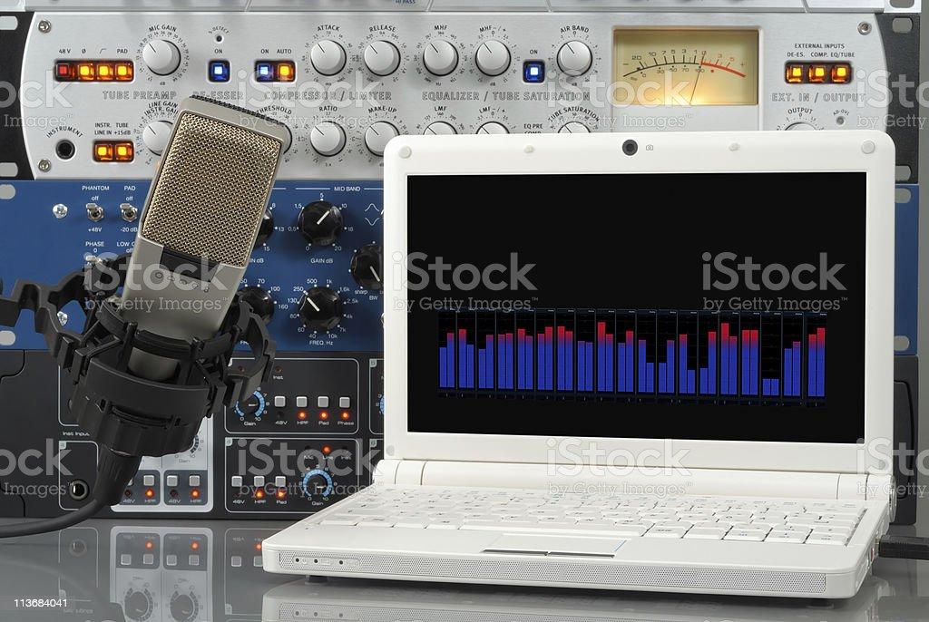 Digital sound recording stock photo