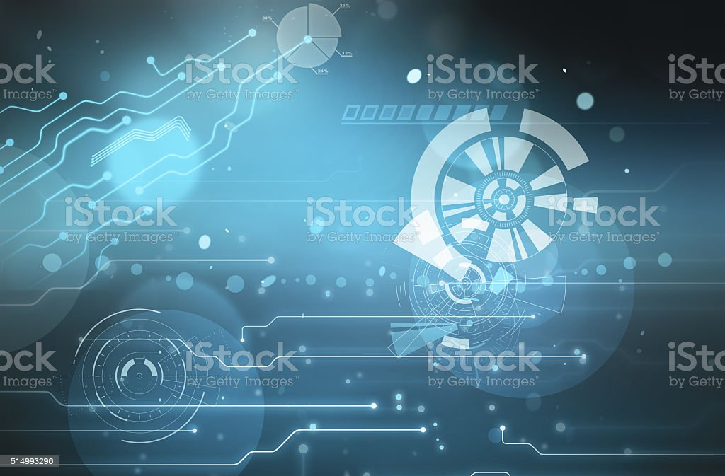 Digital space background. High technology concept stock photo