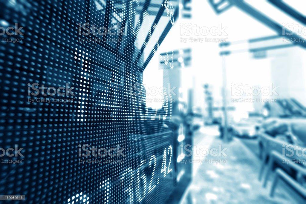 Digital stock market chart display royalty-free stock photo