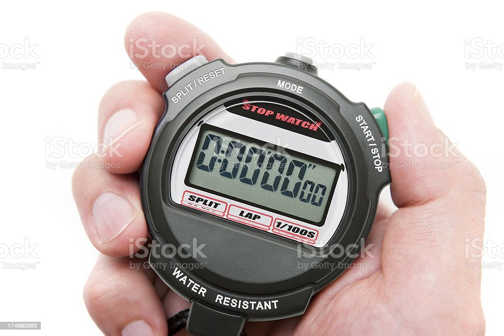 Digital Stopwatch royalty-free stock photo