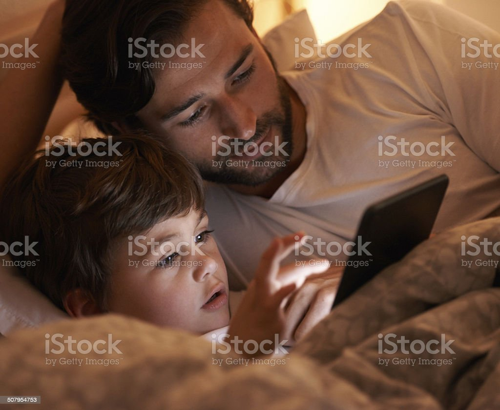 Digital story time! stock photo