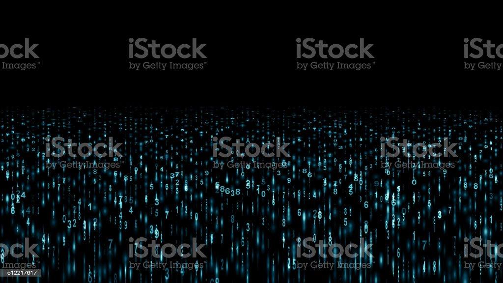 Digital stream stock photo