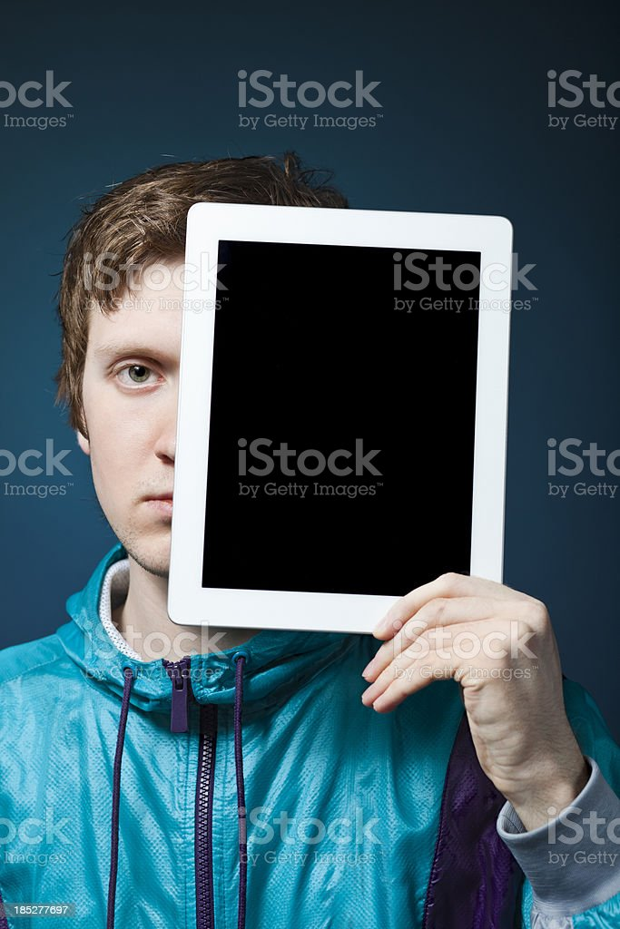 Digital Tablet and Man royalty-free stock photo