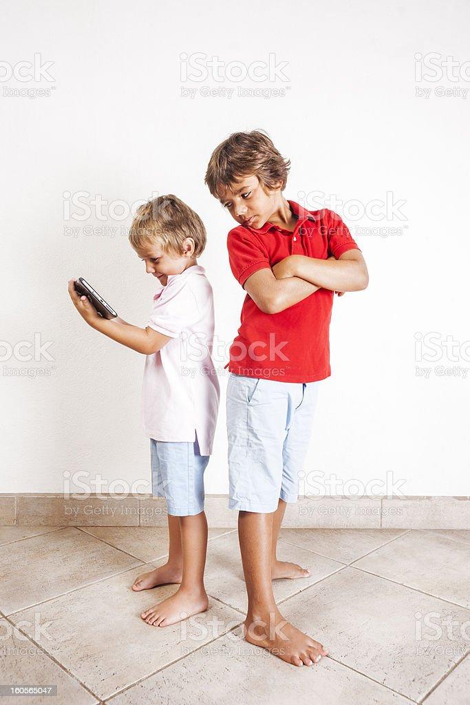 Digital tablet envy royalty-free stock photo