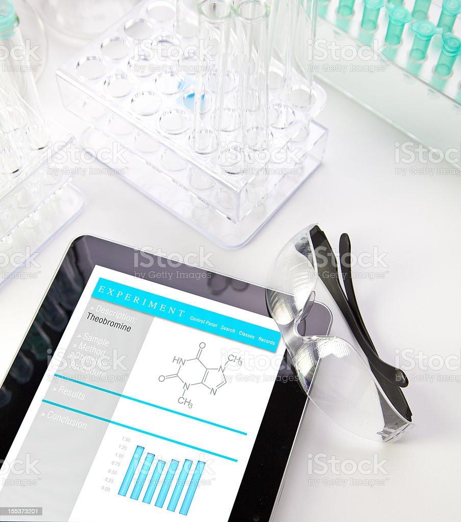 Digital Tablet in Lab stock photo
