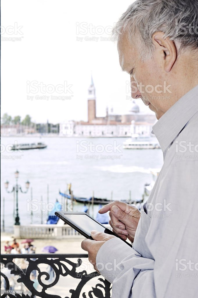 Digital tablet in Venice royalty-free stock photo