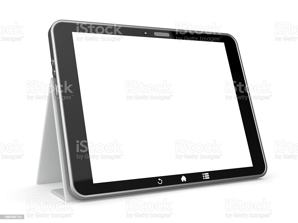 Digital tablet isolated on white background stock photo