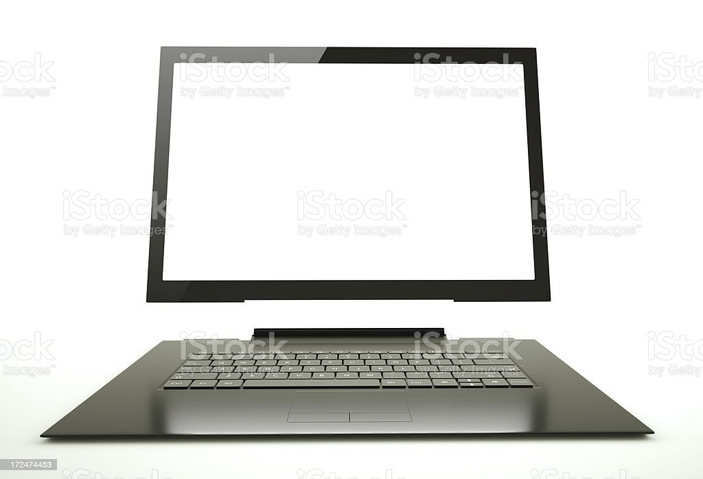 Digital tablet laptop royalty-free stock photo