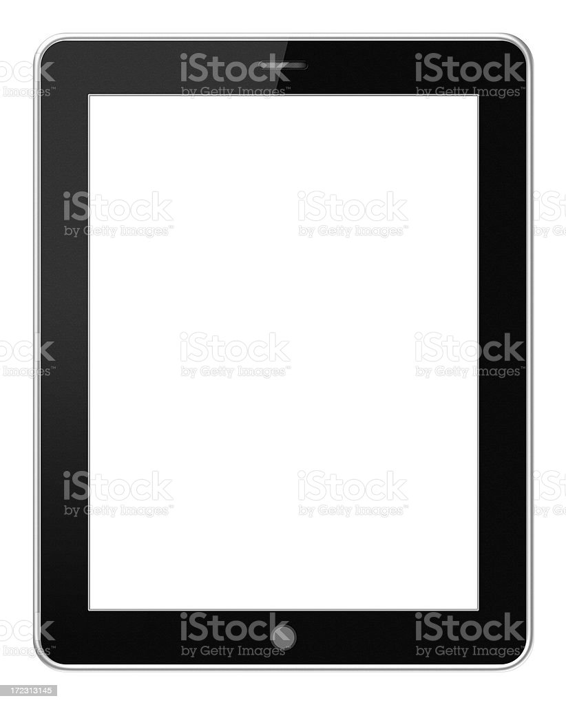 Digital Tablet PC (Clipping path) isolated on white background stock photo