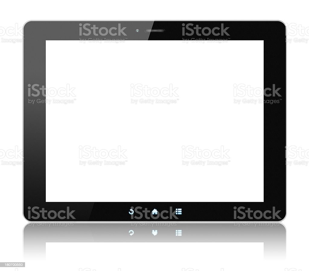 Digital Tablet PC (Clipping path!) isolated on white background royalty-free stock photo