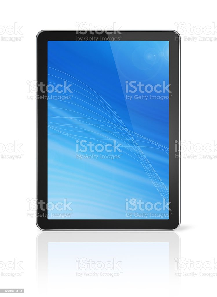 3D digital tablet pc royalty-free stock photo