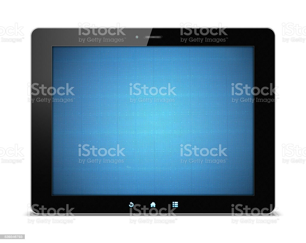 Digital Tablet PC with LED display isolated on white background stock photo