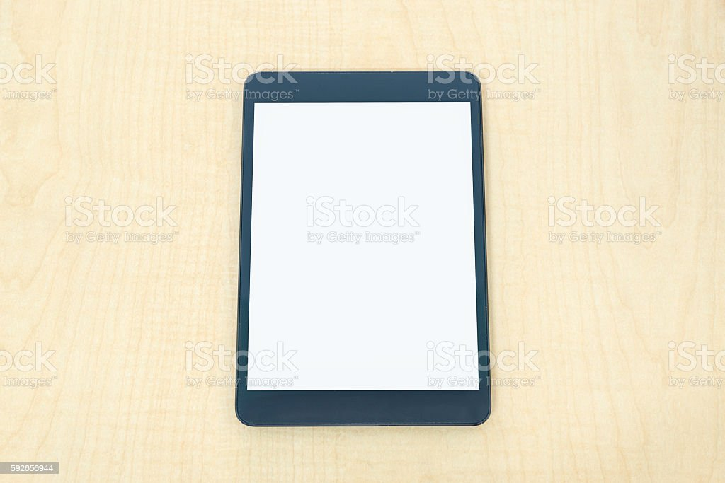 Digital tablet similar to ipade stock photo