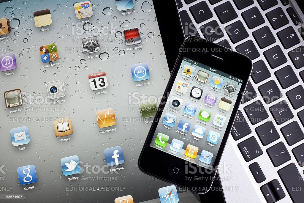Digital tablet & Smart Phone royalty-free stock photo