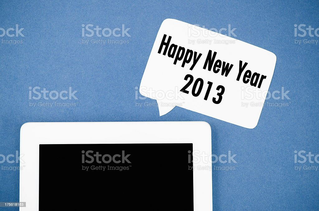 Digital Tablet with black screen on copy space royalty-free stock photo
