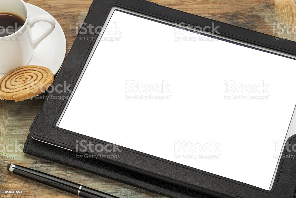 digital tablet with blank screen royalty-free stock photo