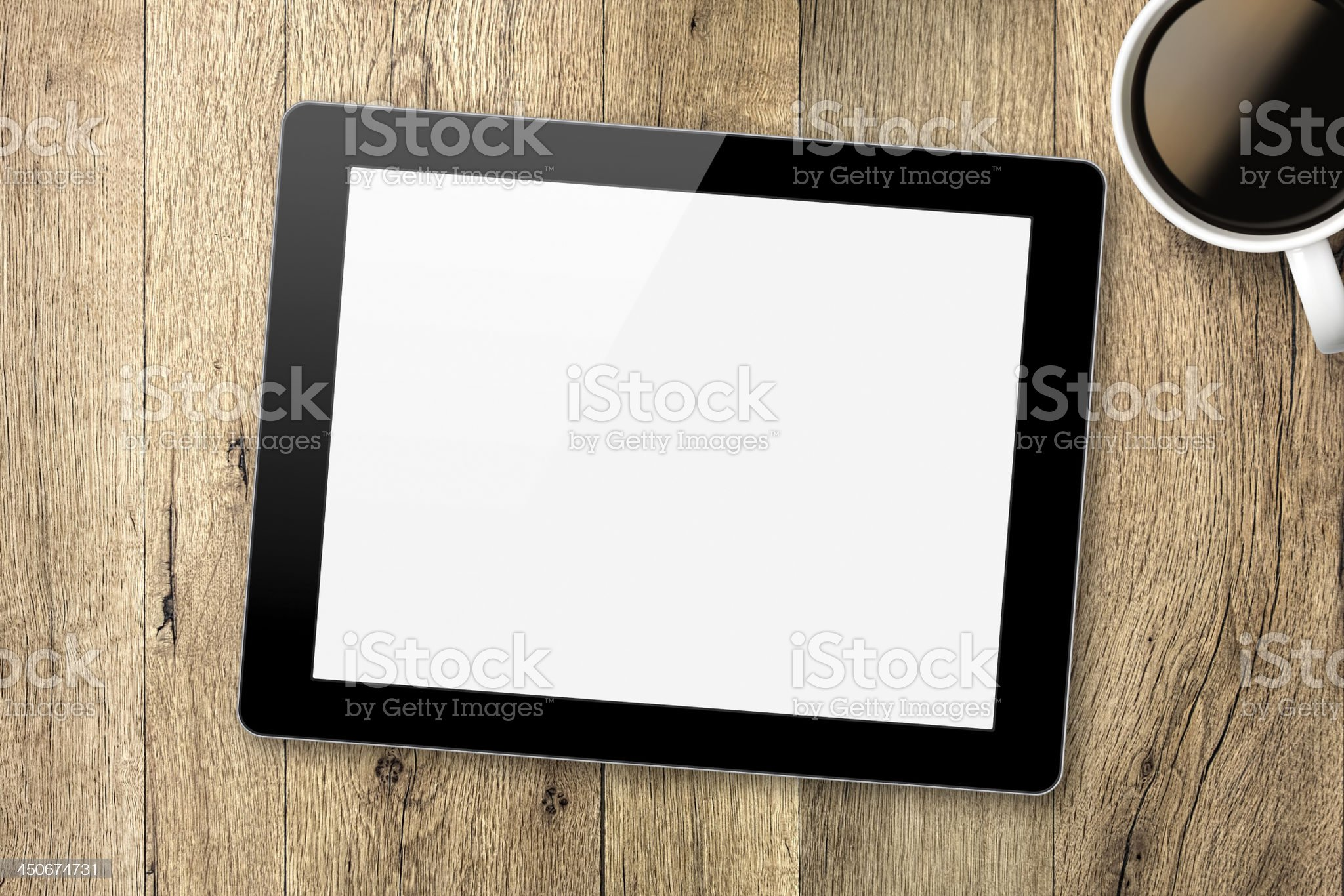 Digital Tablet With Clipping Path For The Screen royalty-free stock photo