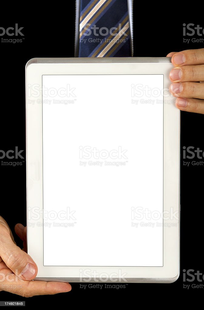 Digital tablet with clipping path royalty-free stock photo