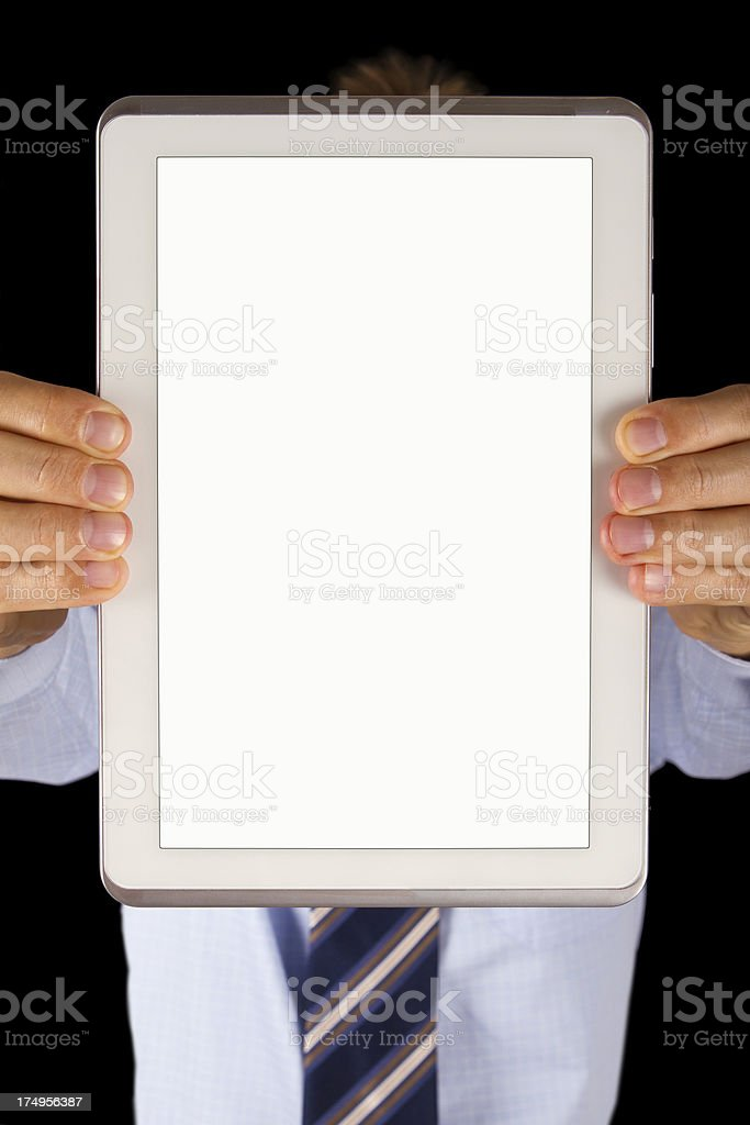 Digital tablet with copy space royalty-free stock photo