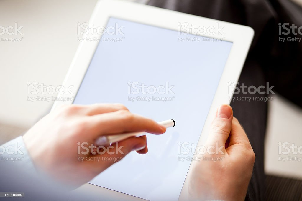 Digital Tablet with White Screen royalty-free stock photo