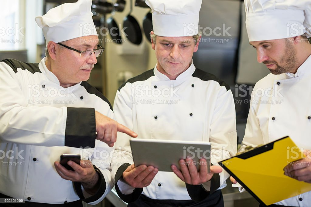 Digital technology is helpful even in the kitchen stock photo