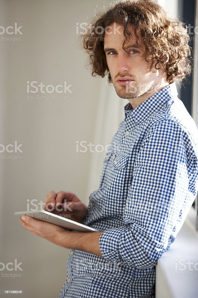 Digital technology keeps him at his creative best royalty-free stock photo