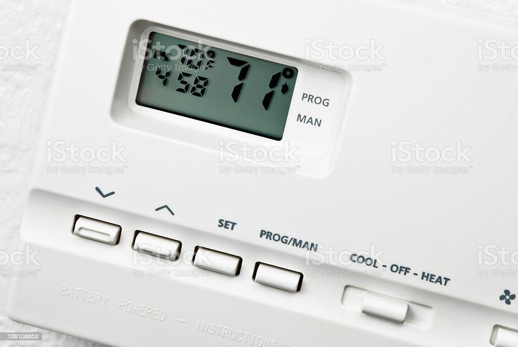 Digital Termostat stock photo